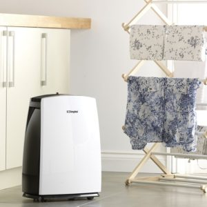 You can use a dehumidifier effectively to dry laundry.