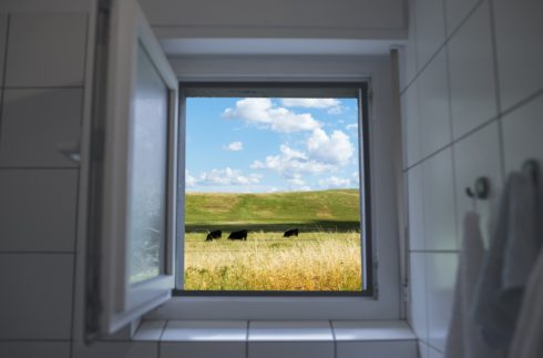 House Ventilation Tips - open bathroom window.